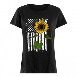 Sunflower With Flag Women's Classic