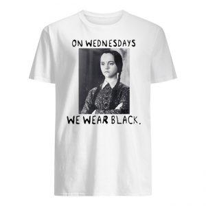 Wednesday Addams On wednesdays wWe Wear Black Shirt