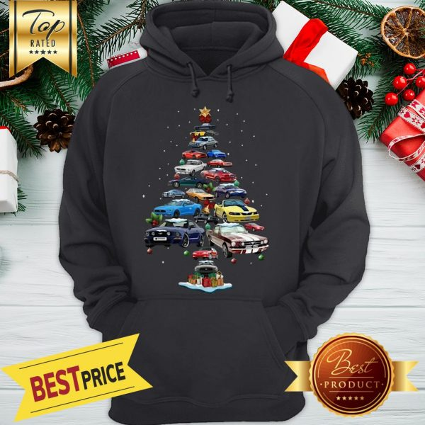 Nice Mustang Car Christmas Tree Hoodie