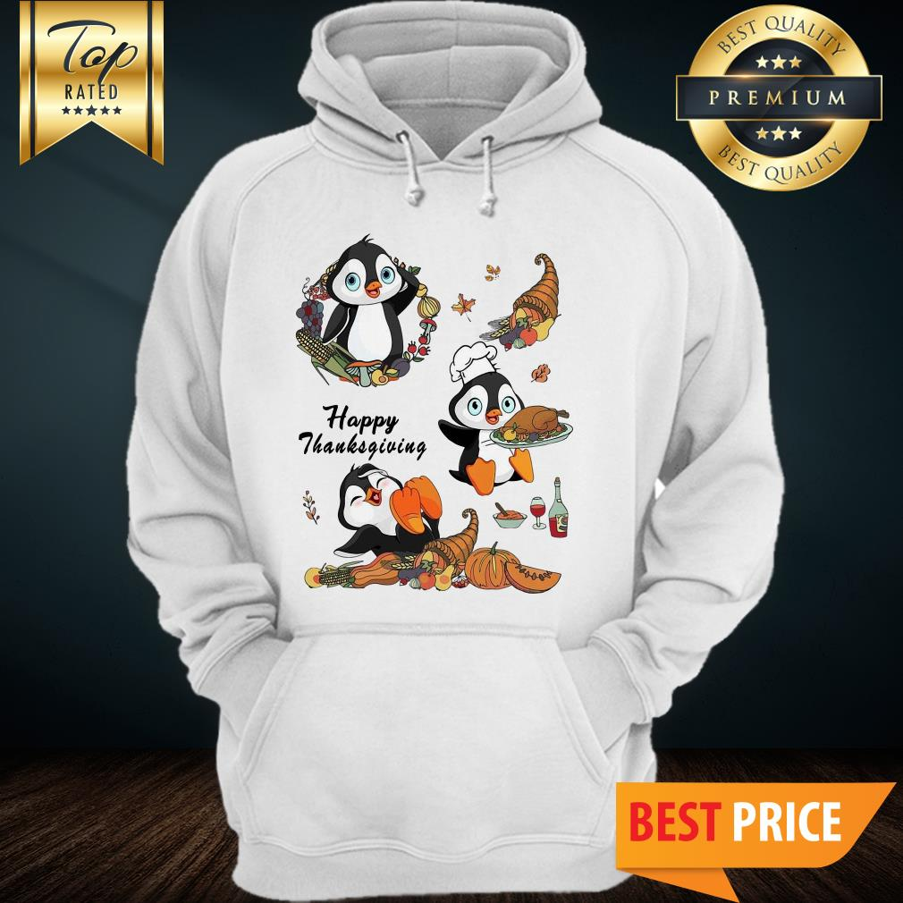 Official Penguins Happy Thanksgiving Hoodie