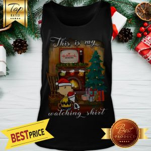 Snoopy And Charlie Brown This Is My Hallmark Christmas Movies Watching Tank Top