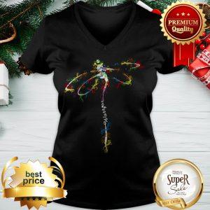 Dragonfly Color Warrior V-neck