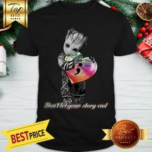 Hot Baby Groot Hug Semicolon Don't Let Your Story End Shirt