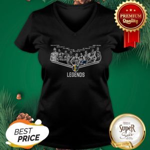 Official Utah Jazz Logo Legends All Signature V-neck