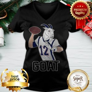 Tom Brady GOAT 12 New England Patriots V-neck