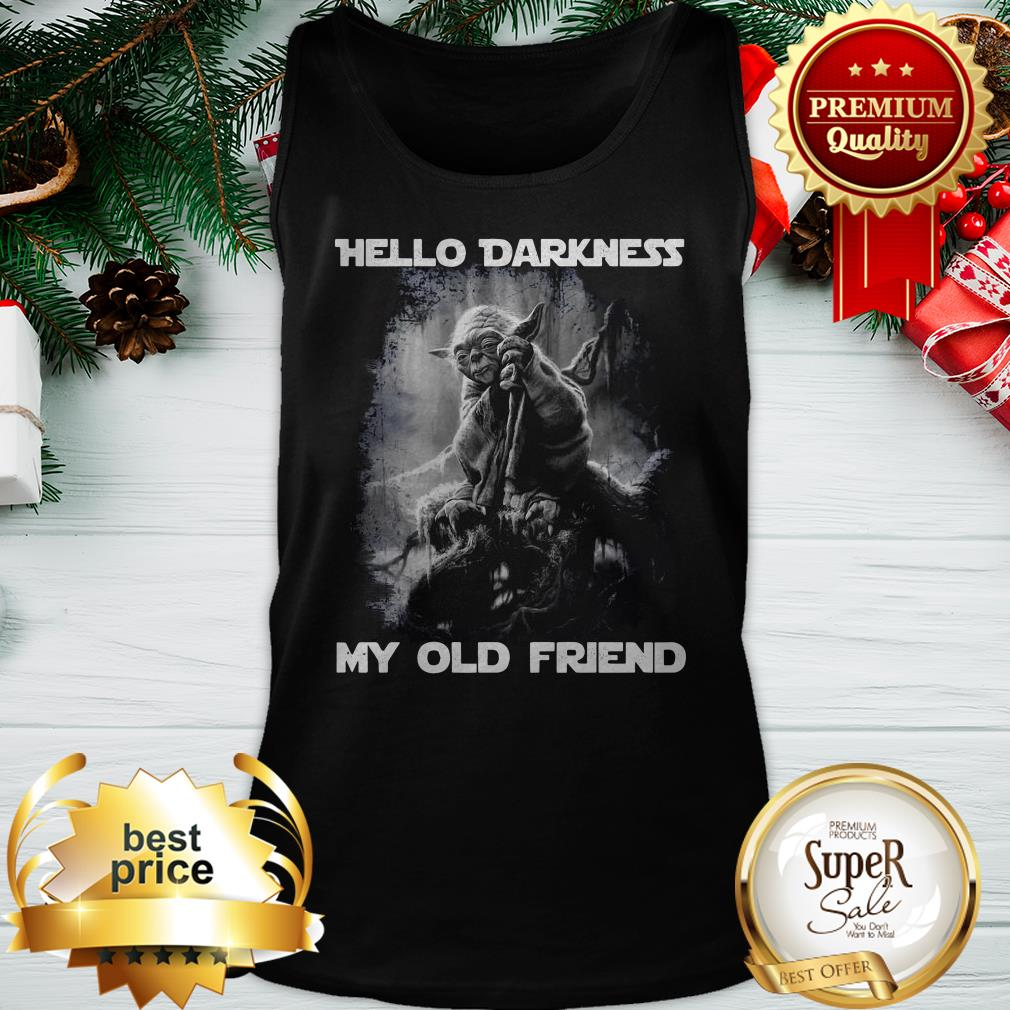 Yoda Hello Darkness My Old Friend Tank Top
