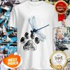 Official Dog Dragonfly Paw Lover Shirt