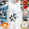 Official Dog Dragonfly Paw Lover Tank Top