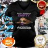 Official Mostly Running On Empty Fibromyalgia Warrior V-neck
