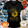 Official School Bus Driver Life Sunflower V-neck