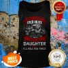 Skull Sweet As Sugar Cold As Ice Hurt My Daughter Once I'll Kill Tank Top
