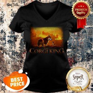 Nice The Corgi King V-neck