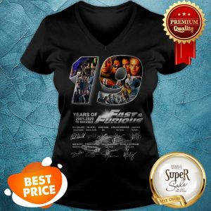 Thank You For The Memories 19 Years Of Fast And Furious Signatures V-neck