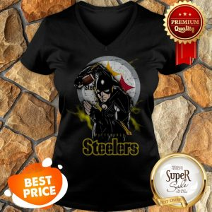 The Flash Mashup Pittsburgh Steelers Champions V-neck