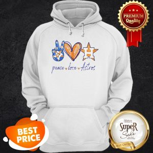 Nice Peace Love Houston Astros Diamond Hoodie