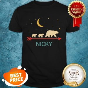 Pretty Original Nicky Name Gift Personalized Mama Bear With 2 Cubs Shirt