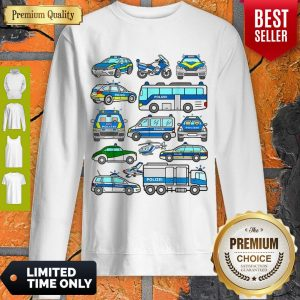 Awesome German Police Cars Policeman Germany Polizei Vehicles Sweatshirt