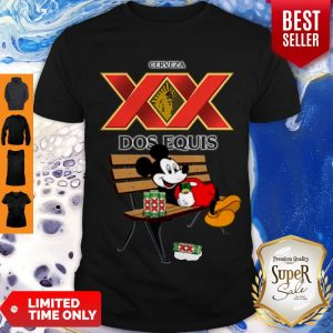 Cute Mickey Mouse Drinking Dos Equis XX Beer Shirt