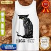 Nice Black Cat Covid Hiss Tank Top