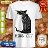 Nice Black Cat Covid Hiss V-neck