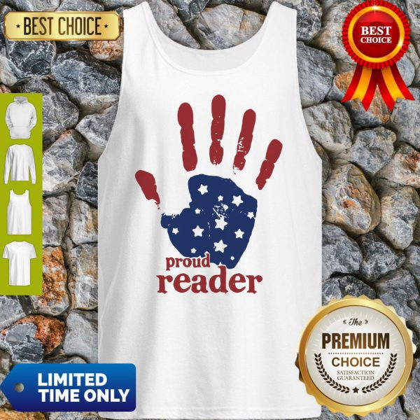 Independence Day Handprint Proud Reader Tank Top