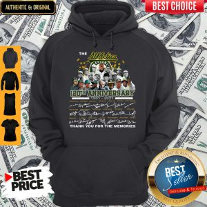 The Athletics 120th Anniversary 1901-2021 Thank You For The Memories Signatures Hoodie