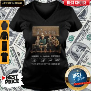 The Ranch TV Series 2016-2020 Signature Thank You For The Memories V-neck