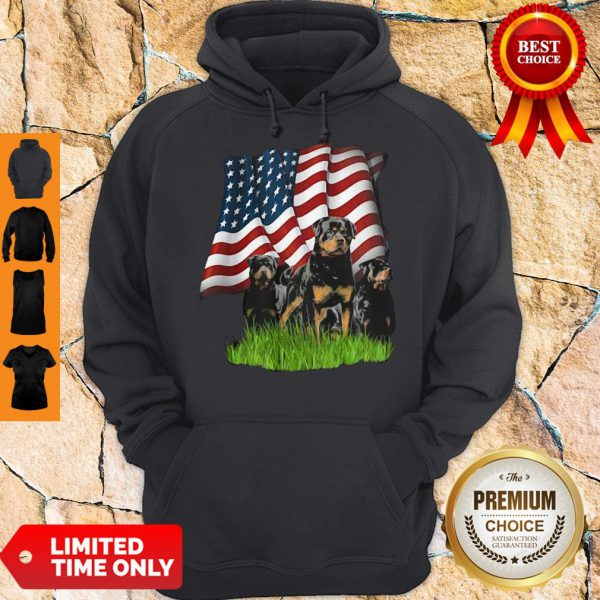 Top Rottweiler American Flag Veteran Independence Day Hoodie