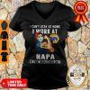 Strong Woman Face Mask I Can't Stay At Home I Work At Napa We Fight When Others Can't V-neck