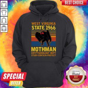 Nice West Vigina State 1966 Mothman Vintage Hoodie