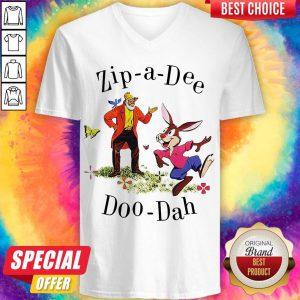 Nice Zip-a-Dee Doo-Dah V-neck