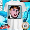 Premium Donald Trump Makeup Style Warhol Shirt