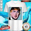 Premium Donald Trump Makeup Style Warhol V-neck