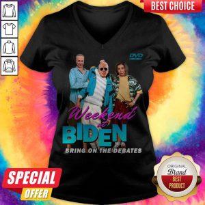 Pretty Joe Biden Weekend At Biden's Bring On The Debates V-neck