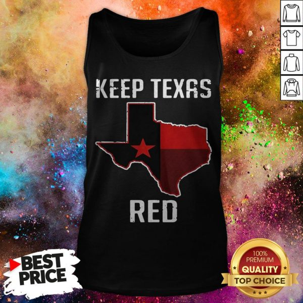 Keep TeXas Red State Flag Tank Top