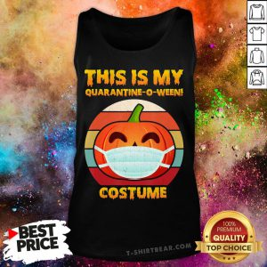 This Is My Quarantine-o-ween Pumpkin Costume Halloween Tank Top - Design By T-shirtbear.com