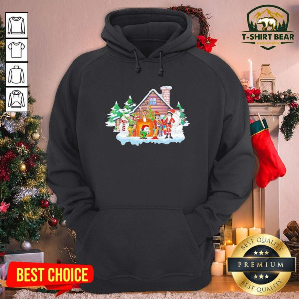 Premium Merry Christmas The Peanuts And Snoopy Hoodie - Design by T-shirtBear.com