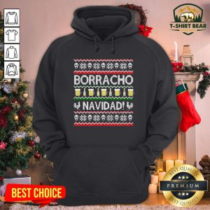 Hot Borracho Navidad Chingon Ugly Christmas Hoodie - Design by T-shirtBear.com
