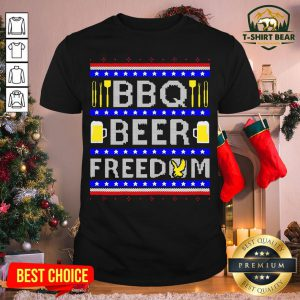 Original Bbq Beer Freedom Ugly Christmas Shirt - Design By T-shirtbear.com