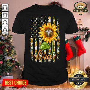 Colorful Sunflower Proud CNA Shirt - Design by T-shirtBear.com