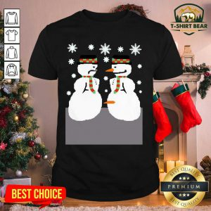 Snowman Nose Thief Ugly Christmas Shirt - Design by T-shirtBear.com