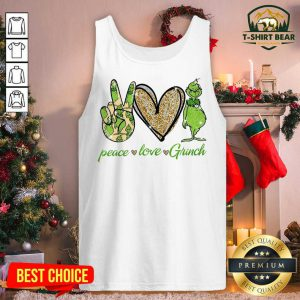 Pretty Peace Love The Grinch Tank Top - Design by T-shirtBear.com