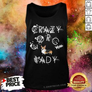 Crazy Corgi Lady Tank Top - Design by T-shirtbear.com