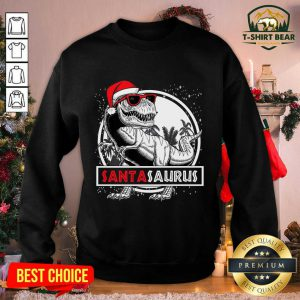 Santasaurus Dinosaur Christmas Sweatshirt - Design by T-shirtbear.com