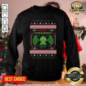 Merry Cthulhumas Ugly Christmas Sweatshirt - Design by T-shirtbear.com