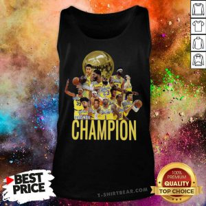 Los Angeles Lakers Champion 2020 NBA Signatures Tank Top - Design By T-shirtbear.com