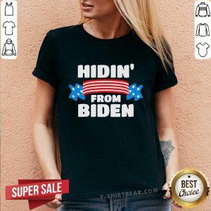 Hidin' From Biden V-neck