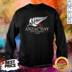 Anzac Day Lest We Forget 25 April Flowers Sweatshirt - Design by T-shirtbear.com
