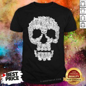 Awesome Skull Cat Beautiful Shirt - Design by T-shirtbear.com